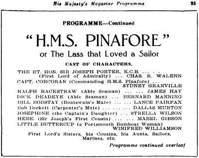 Pinafore program image