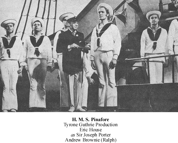 Scene from Tyrone Guthrie's Pinafore